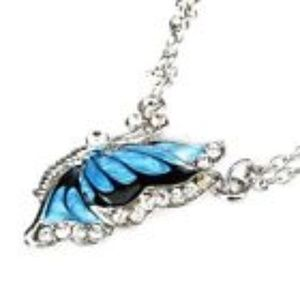 Jewelry - Blue Fashion Crystal Butterfly Pendant Necklace